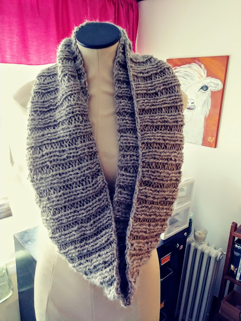 Simple scarf knit with 2 strands of Simply Alpaca held together.  http://shrsl.com/23jt5