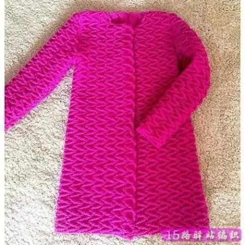 Cómo tejer una Chaqueta con Punto Zig Zag a Crochet