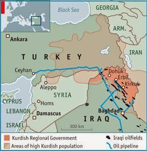 Kurdistan irakien pipelines