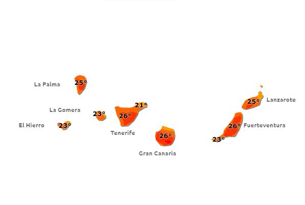 Suben las  temperaturas  en Canarias, mayo 2016