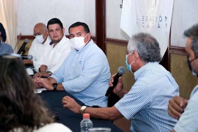 Presenta Canaive Yucatán necesidades del sector al candidato del PAN a la alcaldía de Mérida, Renán Barrera
