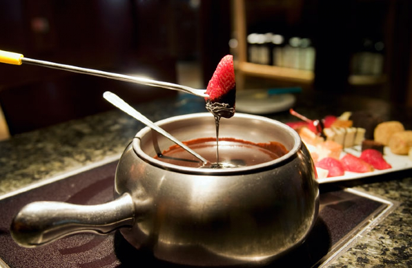Fondue de chocolate do Restaurante Melting Pot em Orlando