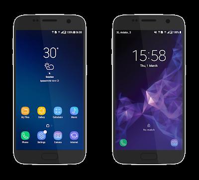Hasil Tampilan Tema Samsung Galaxy S9/S9+