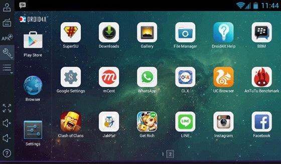 Emulator Android Tercepat (Droid4x)