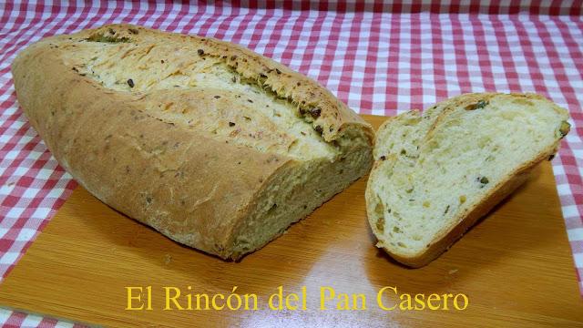 Pan casero con pistachos y queso muy esponjoso Receta fácil