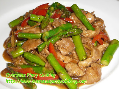 Pork and Asparagus with Oyster Sauce
