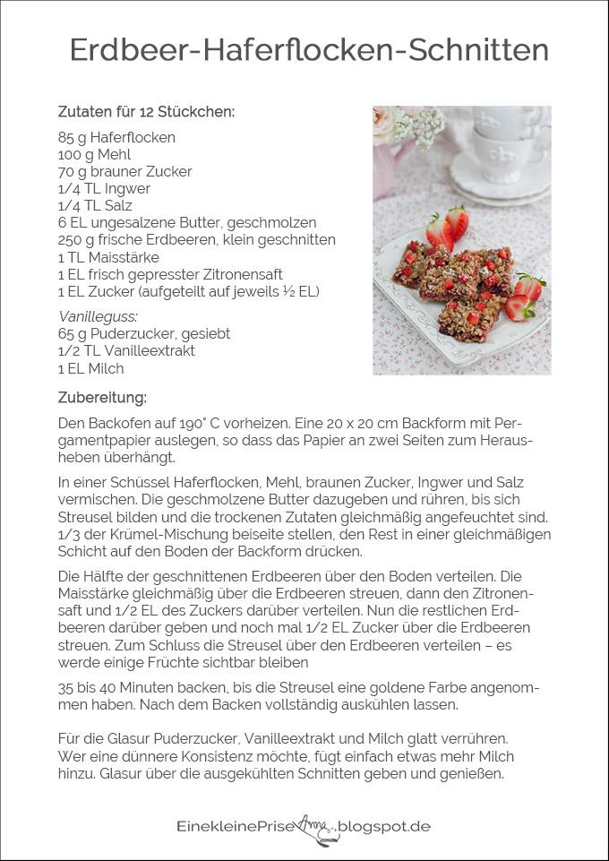 Rezept Erdbeer-Haferflocken-Schnitten