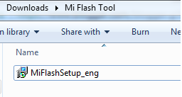 Launch Xiaomi Mi Flash Tool