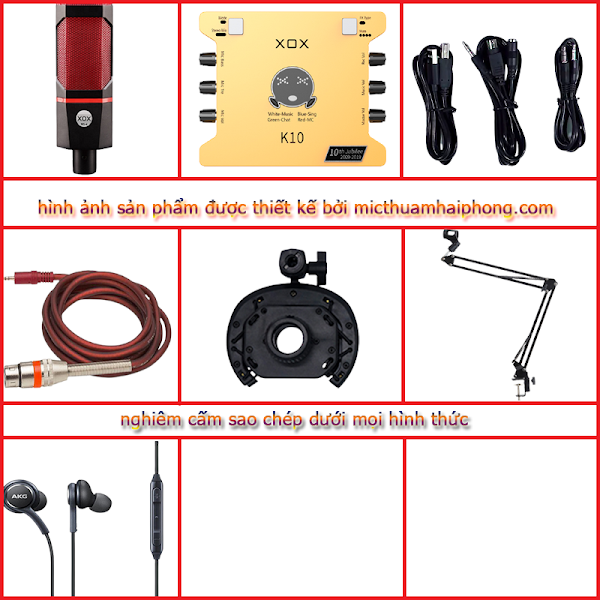 Bộ livestream XOX K10 Micro thu âm XOX MS-4