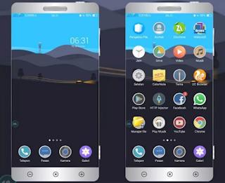 Tema Blue Sky Minimalis untuk Oppo & Realme