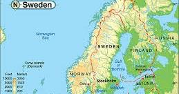 Cartina Fisico Politica Norvegia.Ripasso Facile Riassunto Geografia La Norvegia