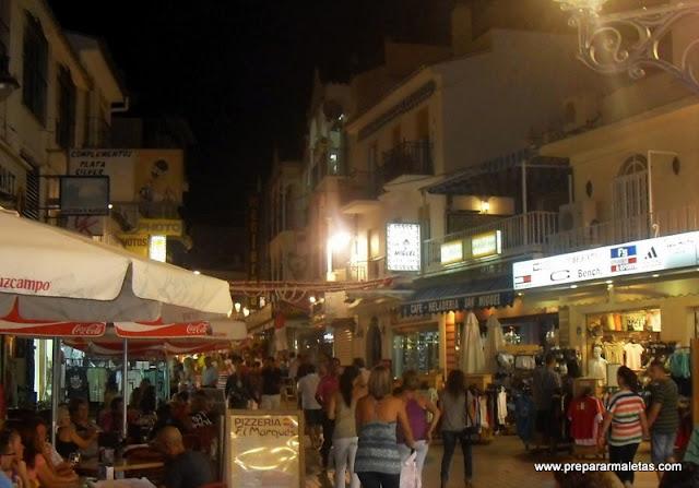 ambiente nocturno en Torremolinos