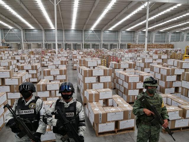 Las Fuerzas Armadas resguardan las boletas y actas del  @INEMexico  para la elección del 6 de junio.  Vota, y vota en libertad.