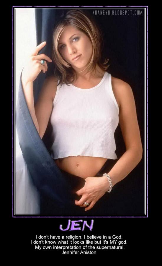 Nsaneyz Posters II: Jennifer Aniston: Wife Beater T-Shirt
