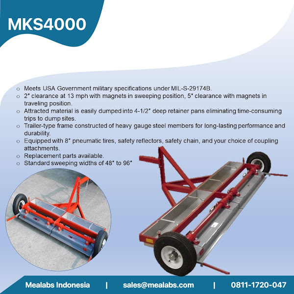 MKS4000 Military Grade Tow Behind Magnetic Sweeper