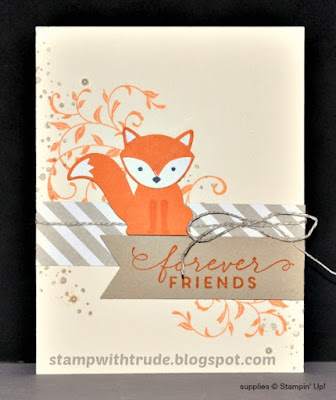 Foxy Friends, Awesomely Artistic, Stampin' Up!, Stamp with Trude, friendship card