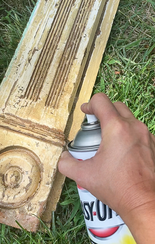 Spray easy off on furniture