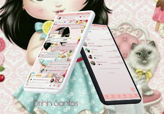 Baby Girl & Cat Theme For YOWhatsApp & Aero WhatsApp By Driih Santos