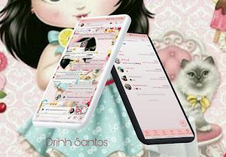 Baby Girl & Cat Theme For YOWhatsApp & Aero WhatsApp By Driih Santos