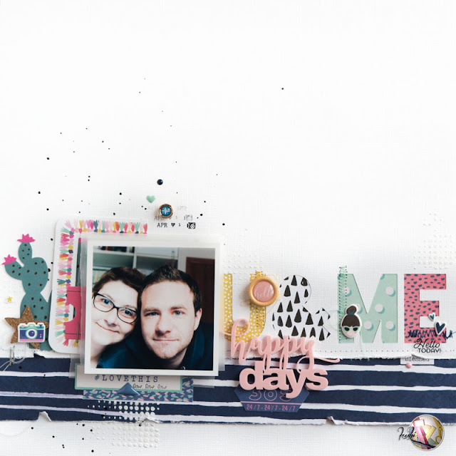 scrapbook layout happy days by kushi per Scrappiamo Insieme www.kkushi.com