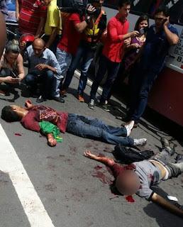 Ladrões são baleados por 'justiceiro' enquanto roubavam micro-ônibus; um morre; outro está ferido