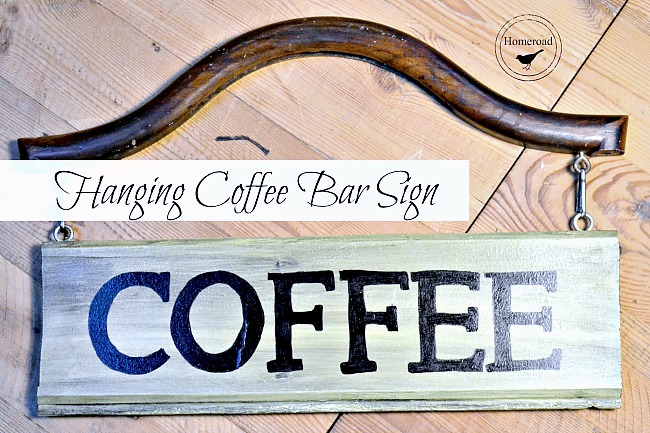 DIY Hanging Coffee Bar Sign for a Coffee Bar