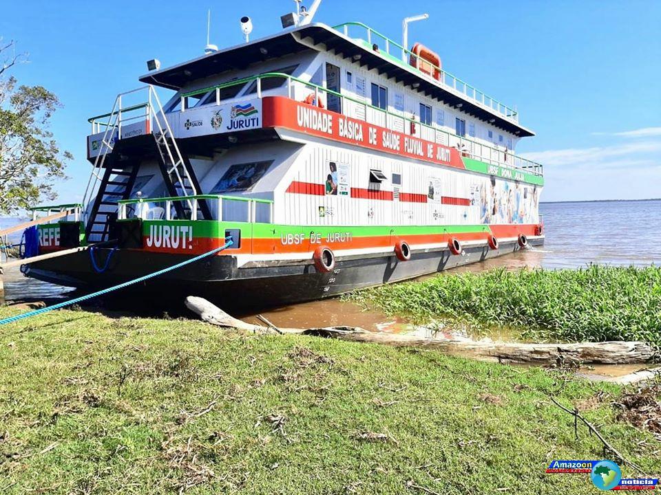 UBS Fluvial de Juruti atende comunidades Irateua e Paraná de Dona Rosa