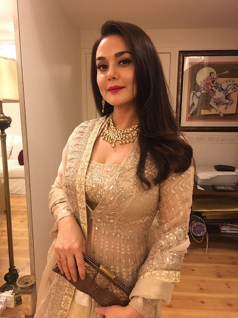 Spotted: Preity Zinta in Minawala Jewellry