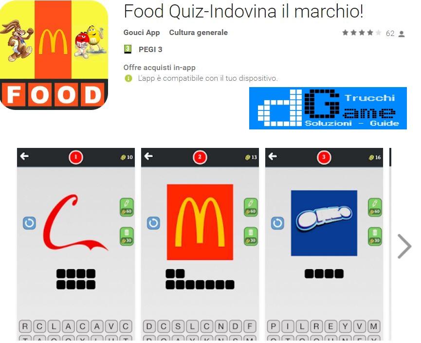 Soluzioni Food Quiz-Indovina il marchio