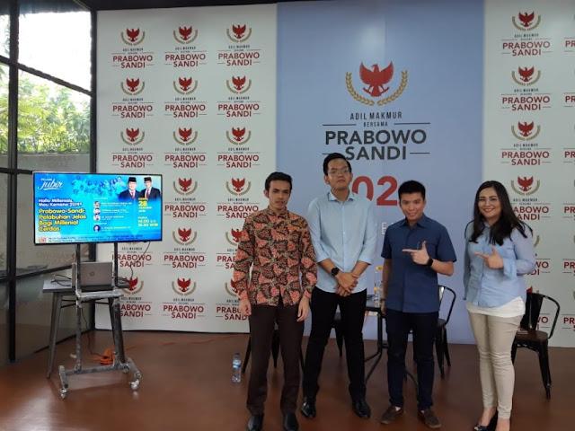 Alasan Kaum Millenial Labuhkan Pilihan ke Prabowo-Sandi di Pilpres 2019