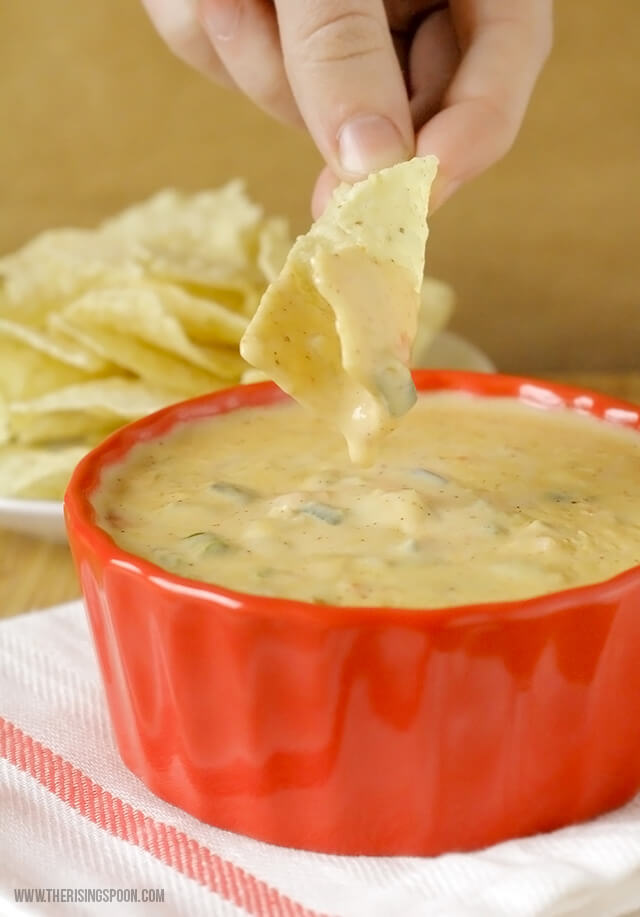 Top 10 Most Popular Recipes On The Rising Spoon in 2016: Homemade Queso Dip