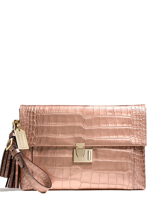 MICHAEL Michael Kors  Small Sloan Metallic Crocodile-Embossed Crossbody