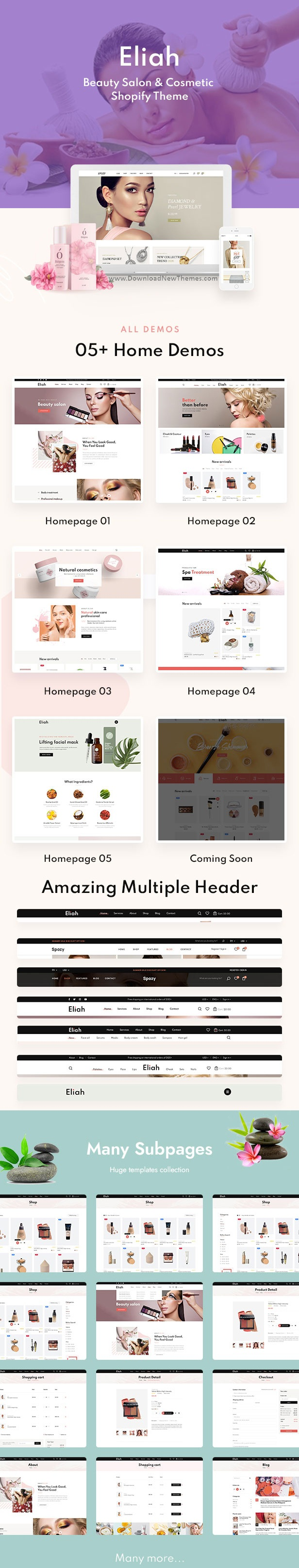 Beauty Salon and Cosmetic Shopify Theme