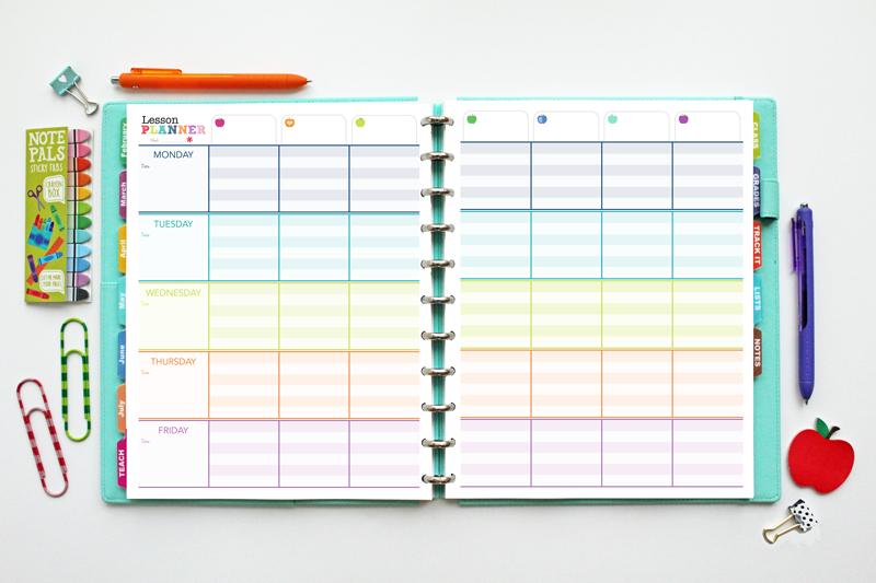 Monthly Teacher Planner Template