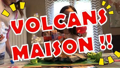 volcan, activité, maison, vinaigre, bicarbonate, jeu, folle blogueuse