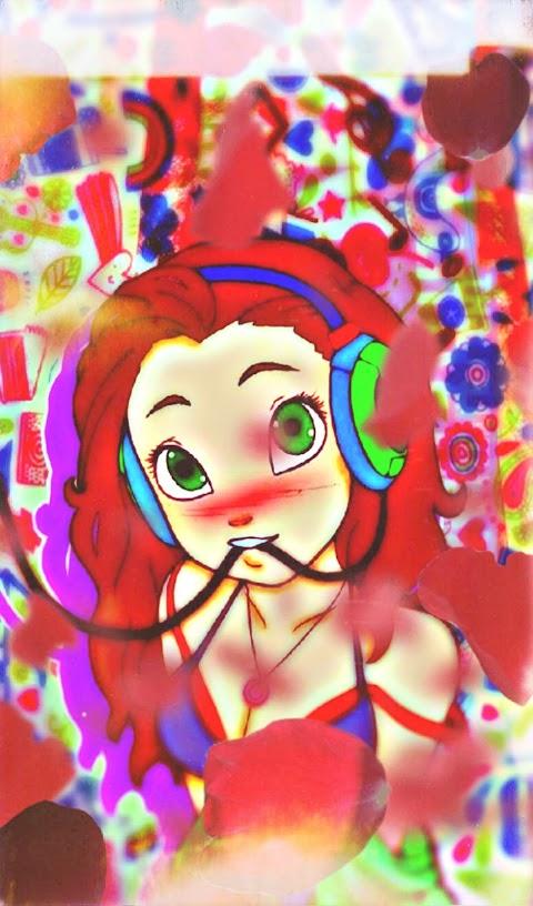 Hình Nền Điện Thoại 3D Cute Cô Bé Ngốc Nghếch