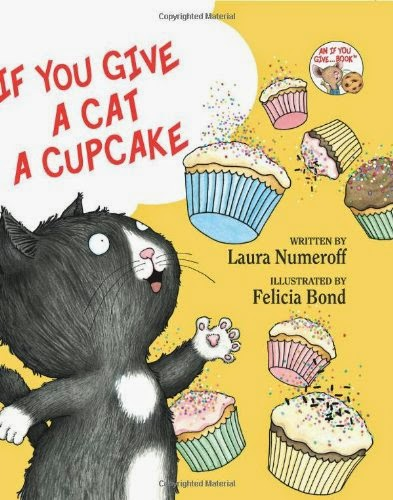 If You Give A Cat A Cupcake by Laura Numeroff, part of children's book review list about cats