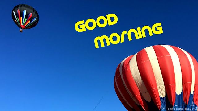 Good morning image hot air balloon