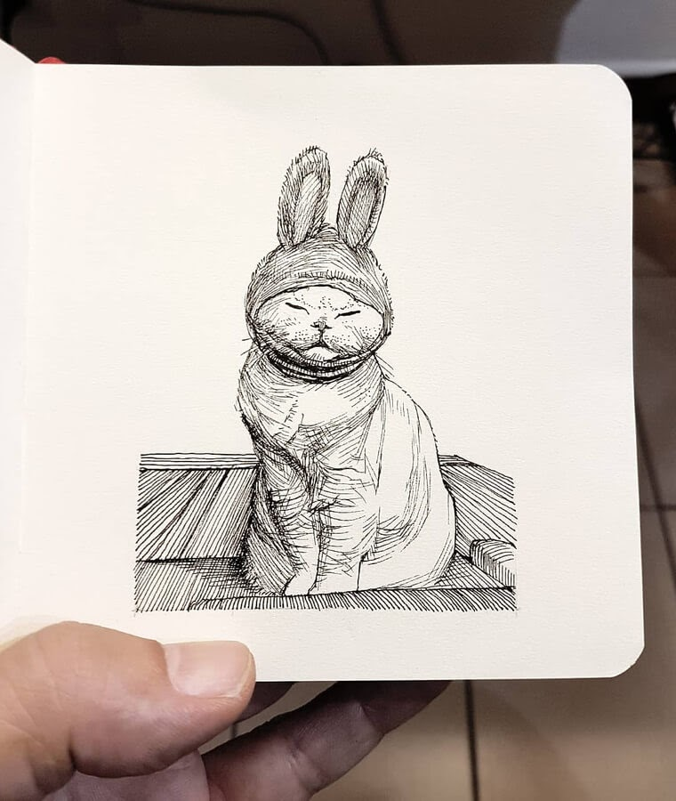 05-A-cat-with-bunny-ears-Alberto-Russo-www-designstack-co