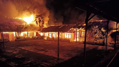 SMP N 1 Motoling Ludes Terbakar, Kerugian Capai Milyaran