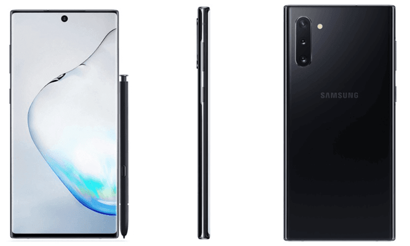 The Samsung Galaxy Note10 Black variant