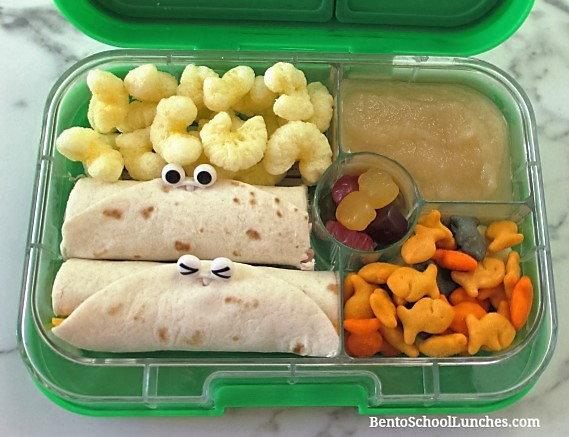 Tortilla wraps for school lunch in leakproof Yumbox
