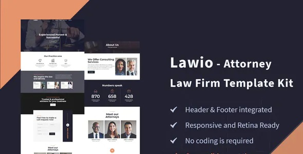Best Attorney Law Firm Elementor Template Kit