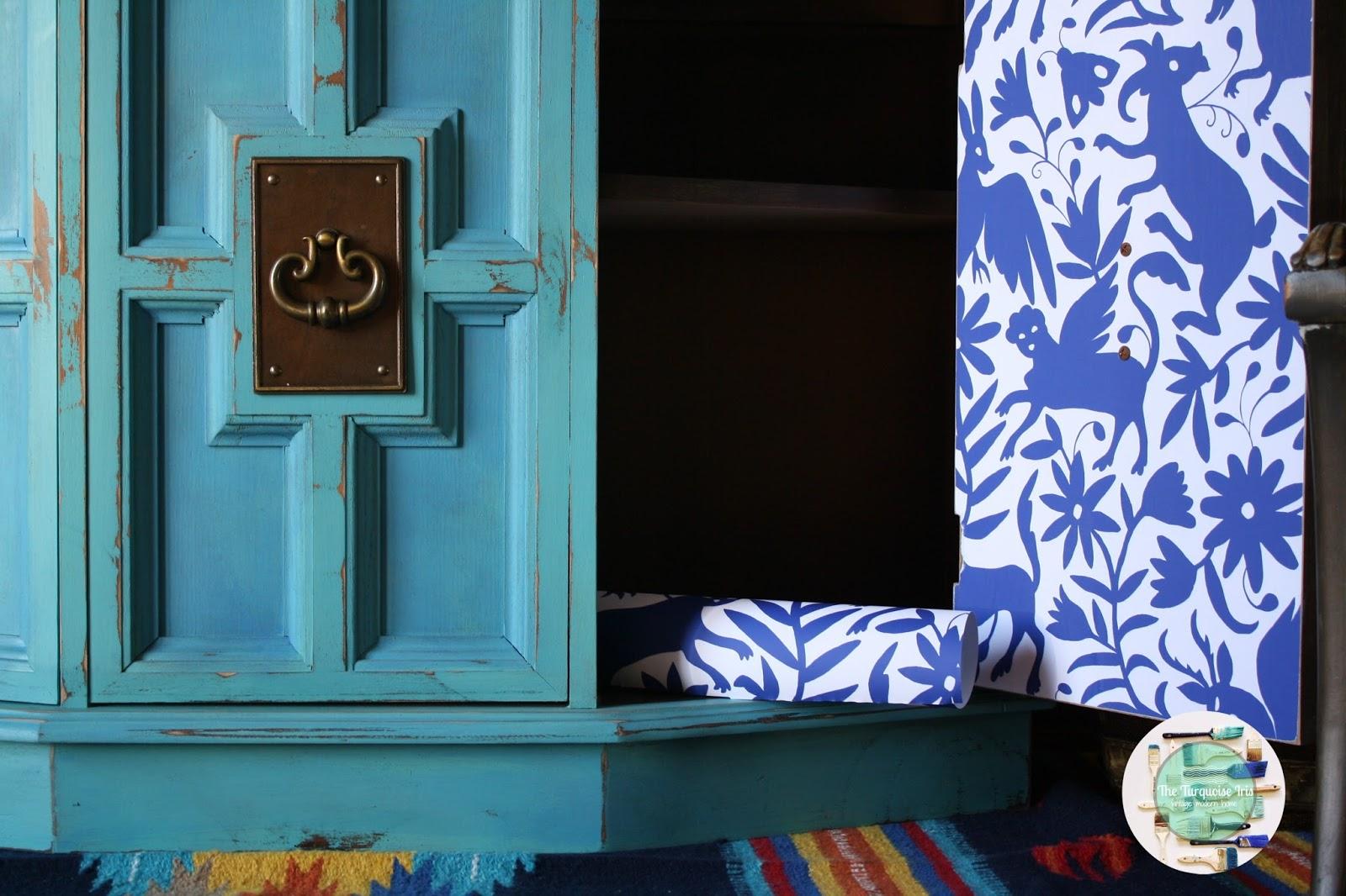 Furniture & Art: Turquoise Cabinet