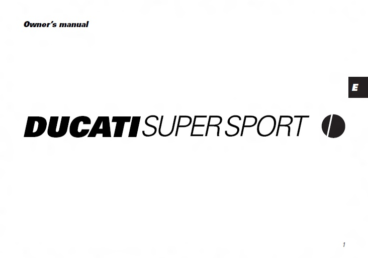 DUCATI Workshop Manuals Resource: DUCATI SUPERSPORT 750