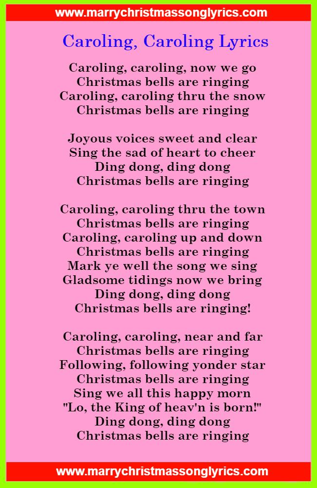 Caroling, Caroling Lyrics Image