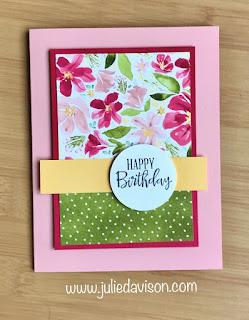 8 Cards, 1 Layout with SAB Designer Paper Sampler ~ Stampin' Up! Best Dressed Designer Paper + Peaceful Moments stamp set ~ January-June 2020 Mini Catalog ~ www.juliedavison.com
