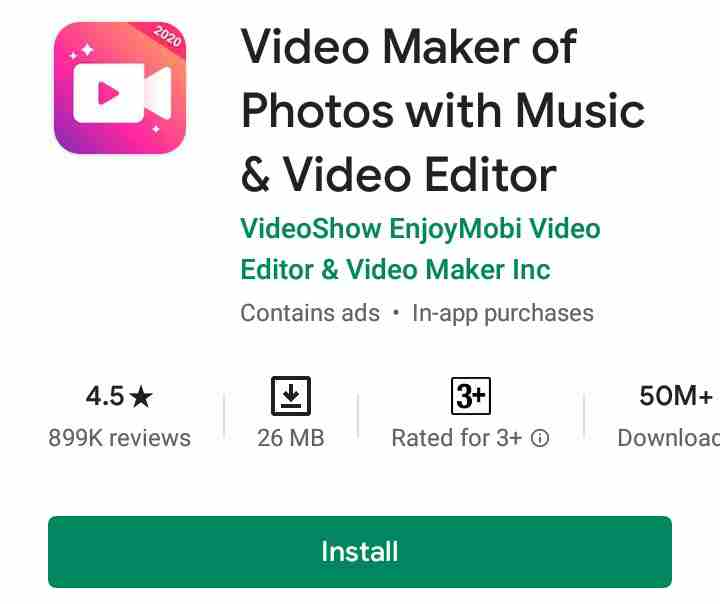 video maker of photos
