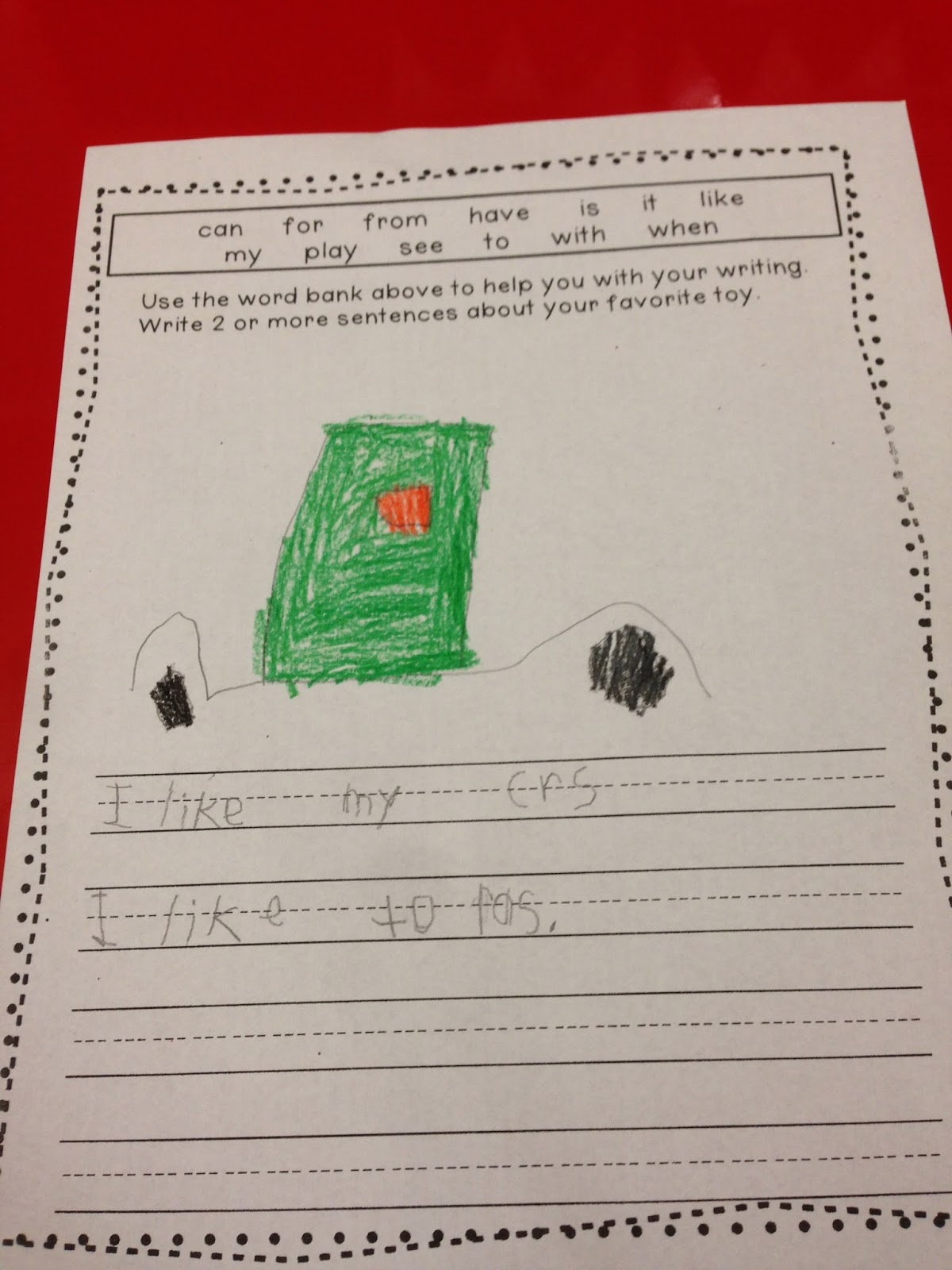 writing in kindergarten kindergarten writing