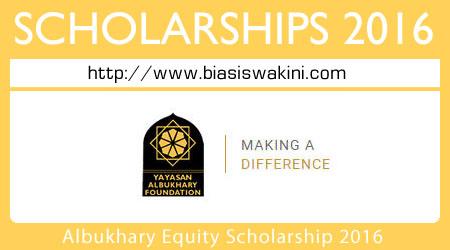 Albukhary Equity Scholarship 2016
